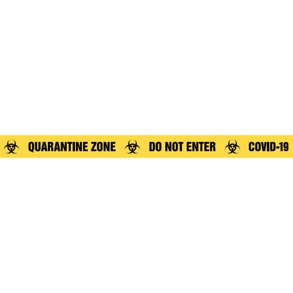 QUARANTINE ZONE DO NOT ENTER COVID-19 Barrier Tape