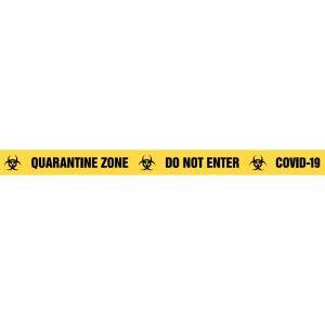 QUARANTINE ZONE DO NOT ENTER COVID-19 Barrier Tape
